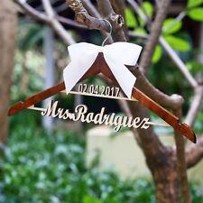 Rustic Wedding Dress Hanger Wedding Coat Hangers For Bride Bridesmaids Keepsake