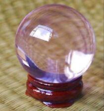 light Purple Magic Crystal Healing Ball Sphere 40mm + Stand healing Holstic gift