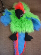 """HAND PUPPET COMPANY LARGE GREEN PARROT MACAW SQUEAKER APPROX 24"""""""