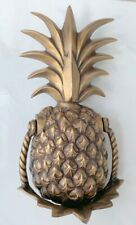 large heavy PINEAPPLE frount Door Knocker SOLID  BRASS old style house banger B