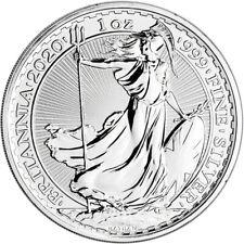 2020 Great Britain Silver Britannia £2 - 1 oz - BU
