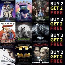 BEST TIM BURTON CLASSIC MOVIE FILM POSTERS A4 A3 300gsm Paper/Card