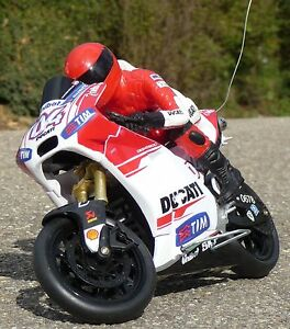 "RC Motorrad DUCATI DESMOSEDICI ""STONER"" Länge 23cm ""Ferngesteuert 27MHz""   88815"
