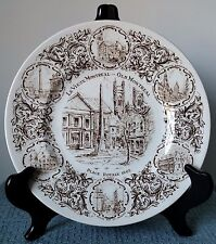"Wood & Sons ~ English Ironstone ~ 10"" COLLECTOR'S PLATE ~ ""Le Vieux Montreal"""