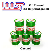 Castrol 5 X Barile Tamburo 1:3 2 Scala Slot Car Pista Scenario Wasp 55