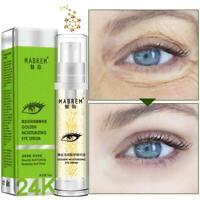 24k Golden Eye Serum Anti Wrinkles Lines Collagen Moisturizing Eye Care