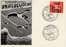 Ansichtskarte Bayern  Werbekarte Oberstdorf Skiflugwoche 1958