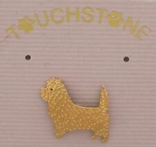 Cairn Terrier Jewelry Small Gold Pin