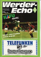 BL 87/88 SV Werder Bremen - Eintracht Frankfurt