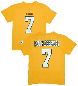 NFL T-Shirt Pittsburgh Steelers ben Roethlisberger 7 Yellow ER2 Receiver Jersey