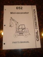 Gehl 652 Mini Excavators Parts Manual