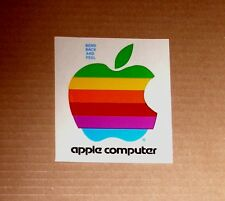 Old Rainbow Apple Computer Logo Sticker - L