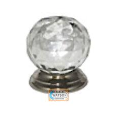 Glass Cupboard Door Knob 32mm Ball Handle Chrome Plated Backplate