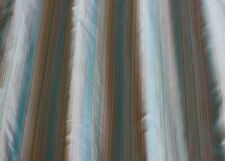 "White/Blue Tissue Taffeta Stripes 100% Silk Fabric 44"" Wide, By Yard (SD-690A)"