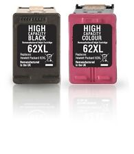 2 cartuchos para HP 62XL OfficeJet 5740 5742 5745 8040 8045 ENVY 5540 5643