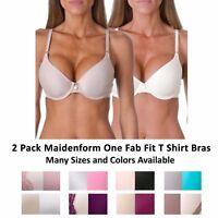 Maidenform Womens Convertible Fab Fit Multi Way T-Shirt Bra, 2 Pack Combo