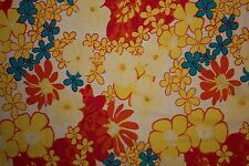 Floral Poplin Print #14 Cotton Lycra Spandex Stretch Woven Apparel Fabric BTY