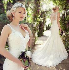 2017 Sirène Dentelle Robe de mariée mariage soirée wedding evening dress 32-34++