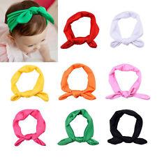 8 PCS Cute Baby Girl Elastic Turban Headbands Head Wrap Rabbit Ear Hair Band