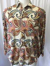 Vtg 80s Guess By Georges Marciano Paisley Mens Long Sleeve Shirt Sz M Rare Print