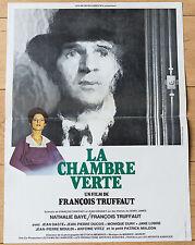 Affiche de cinéma : LA CHAMBRE VERTE de FRANÇOIS TRUFFAUT