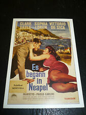 IT STARTED IN NAPLES, film card [Clark Gable, Sophia Loren]