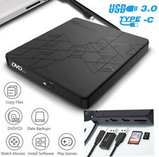 External CD DVD Drive for Laptop USB 3.0 Type-C DVD Drive for PC Mac Card Reader