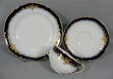 Kaffeegedeck hoja mientras comíamos kpm cetro malermarkung cobalto oro rosenranken 1910