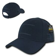 Navy Blue Tactical Ripstop Military Patch Operator Contractor Low Crown Cap Hat