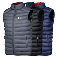 Under Armour Men Leisure Winter Outdoor Sport Vest Zipper Jackets Coat Waistcoat