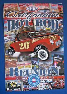 NHRA - CALIFORNIA HOT ROD REUNION 20th ANNIVERSARY 2011 POSTER Rare Collectible