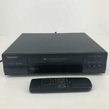 Daewoo Dv-F523N 4 Head Vhs Vcr Video Cassette Player with Remote Bundle