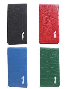 Mens Crocodile Leather Scorecard & Yardage Book Holder by Mercia Golf
