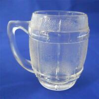 Vintage Hazel Atlas Barrel Keg Mug Shot Glass Clear Barware