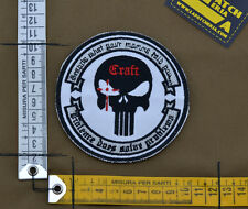 "Ricamata / Embroidered Patch ""Craft Chris Kyle"" Grey with VELCRO® brand hook"