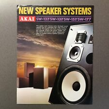 Vintage Akai speakers brochure ad catalog for SW-127, SW-137, SW-157, and SW-177