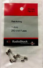 RADIOSHACK 1-Amp 250V 5X20MM FAST-ACTING GLASS FUSE (4-PACK) #270-1049 NEW