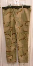 """Mens Size 3XL Belted Cargo Camo Military Fatigue Desert BDU Pants Waist 47 - 51"""""""
