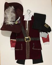 NWT Disney Store Sz 5/6 Captain Hook from Peter Pan Costume & Hat