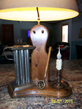 Vtg NightWatch Night Watch Co  Candle Making Maker Table Top Lamp Cozy Lighting