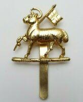 The Queens Royal West Surrey Regiment Anodised Staybrite Cap badge  Gaunt London