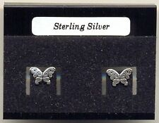 Butterflies Sterling Silver 925 Studs Earrings Carded