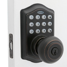 Honeywell Electronic Entry Knob Door Lock - Oil Rubbed Bronze