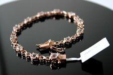 Marropino Morganite Bracelet Size 7.5 in Rose Gold Over Sterling Silver 3.75 Ct.