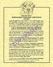 Rules In A Wirehaired Pointing Griffon's House