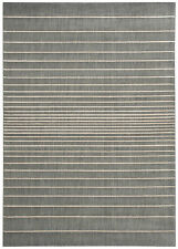 MODERN NOURISON RECTANGULAR GREY/CREAM, VELVET PILE RUG, HAND CARVED, 7'5 x 5'3