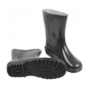 Black Womens Ladies Wellies Wellington Boots Rain Boots Gardening All Sizes