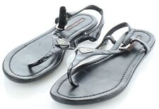 43-63 $200 Womens Size 36 Prada Patent Leather Thong Sandals in Black