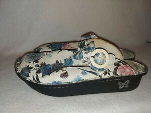 Alegria Women Donna Fantasia DON-550 Floral Leather Slide Mule Clog Shoe Size 37