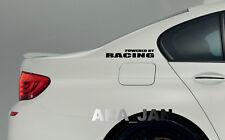 POWERED BY RACING Vinyl Decal sticker emblem sport speed car logo BLACK